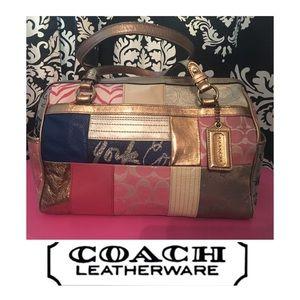 EUC! Coach NY 1941 Signature Patchwork Satchel